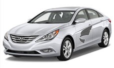 Hyundai Sonata---The Sonata is a refined and sophisticated sedan featuring good interior room and many safety features.
